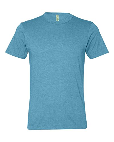 Alternative Apparel The Eco Heather Crew Tee in Turquoise,Small,Turquoise