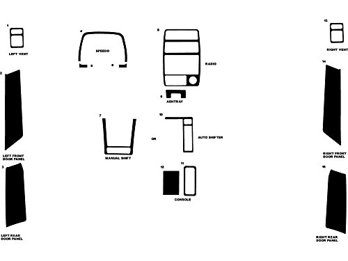 - Rdash Dash Kit Decal Trim for Geo Tracker / Suzuki Sidekick 1992-1995 - Wood Grain (Walnut)