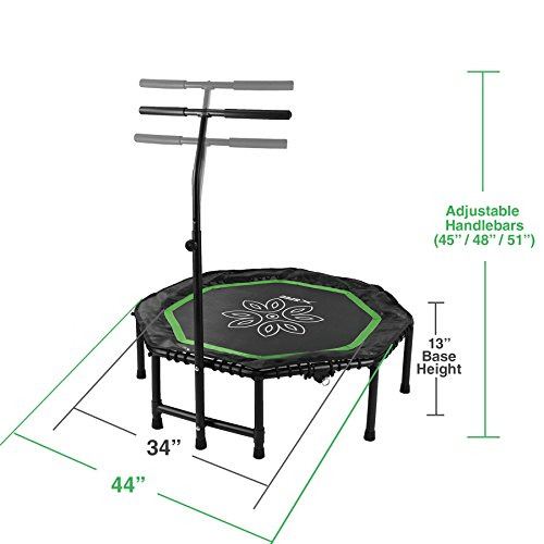 "Xspec 44"" Flying Lotus Exercise Rebounder Trampoline Workout Cardio Fitness Training mini indoor, Mini Quiet & Safe Bounce, Rebounding"