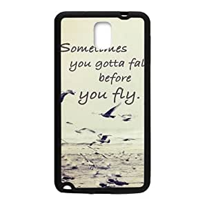 sometimes you gotta fall before you fly Phone Case for Samsung Galaxy Note3