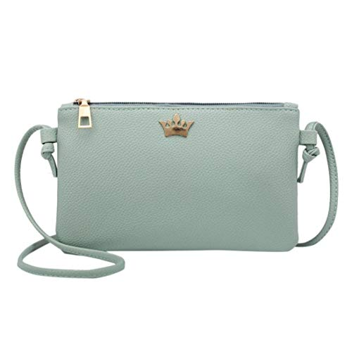GREEN Leather Solid Crown Crossbody Shoulder Fashion Bags Bags Messenger Bag Bafaretk Women Coin yq7ESXq