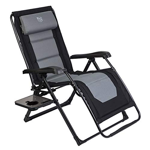 Timber Ridge Zero Gravity Locking Lounge Chair Oversize XL Adjustable Recliner with Headrest for Outdoor Beach Patio Pool Support 350lbs