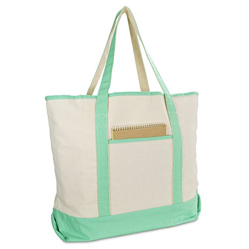 Cotton Canvas Zippered Tote - 9