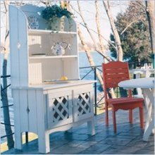 Uwharrie Chair 5051 Outdoor Hutch - White