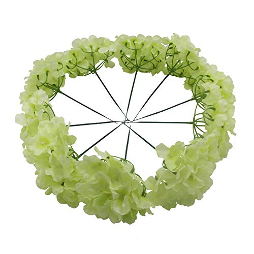 Kislohum Artificial Hydrangea Flowers Heads for Wedding Bouquet DIY Floral Decor Home Garden Party Decorations,Pack of 10 with Stems-Pale Green from Kislohum