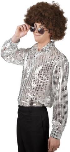 Camiseta para hombre camisa Schlager lentejuelas sexy camisa de hombre de plata: Amazon.es: Juguetes y juegos