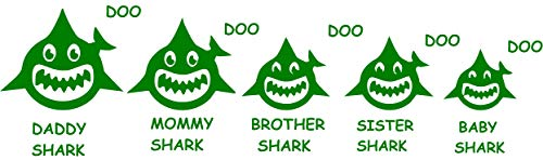 - Maple Enterprise Baby Shark Doo Doo Mommy Daddy Brother Sister and Baby Shark Family Vinyl Decal Sticker for Car Laptop Wall Room Decoration 12