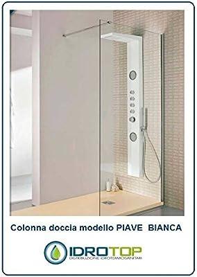 Columna Ducha Piave Color Blanco hidromasaje multifunción grifo ...