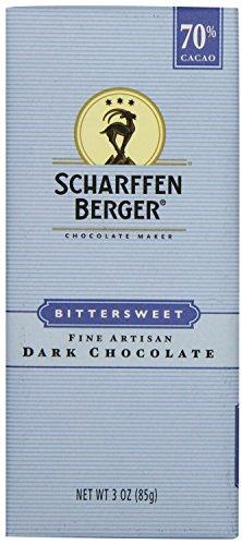 - SCHARFFEN BERGER 70% Cacao Bittersweet Dark Chocolate Bar, 3 Ounce