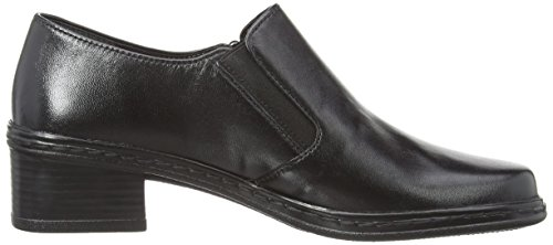 Shoes Mocasines Casual Mujer Gabor Leather Black xv7q1wwZO