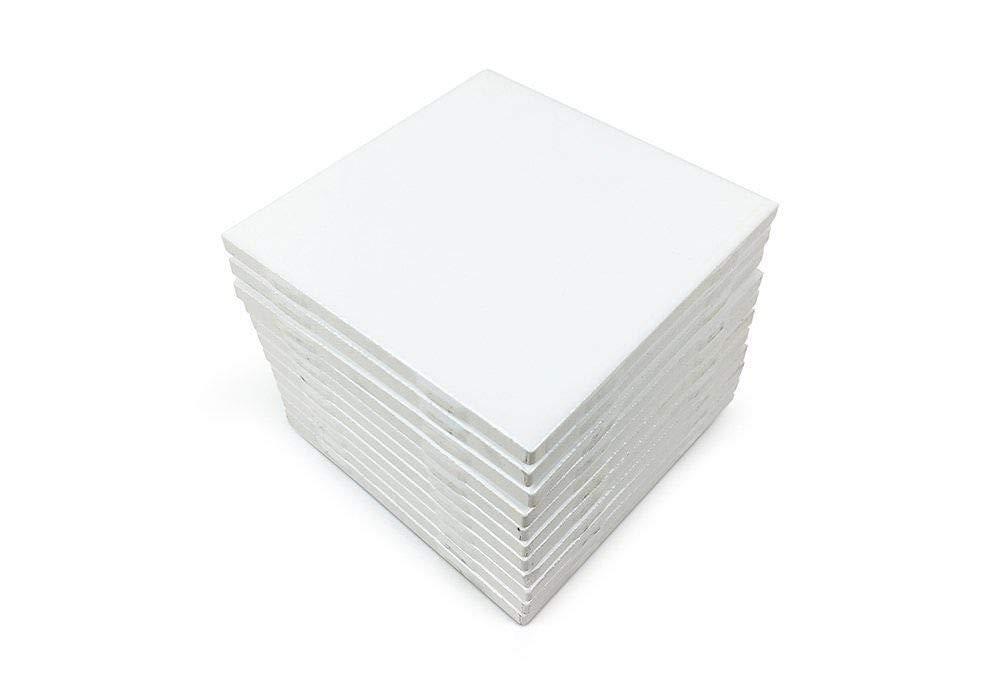 4x4 White Glossy Finish Ceramic Subway Tile Shower Walls Backsplash Made in USA (12.5SF Full Box 100PCS) by Squarefeet Depot (Image #1)