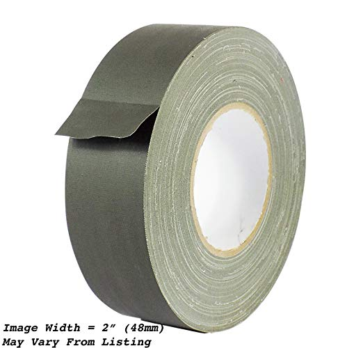 - MAT Gaffer Tape Olive Drab Low Gloss Finish Film - 2 in. x 60 Yards - Residue Free, Non Reflective, Better Than Duct Tape (Available in Multiple Colors)