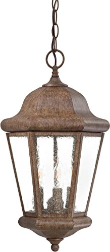 - Minka Lavery Outdoor Pendant Lighting 8614-A61, Taylor Court Ceiling Lighting for Patio, 180 Watts, Rust