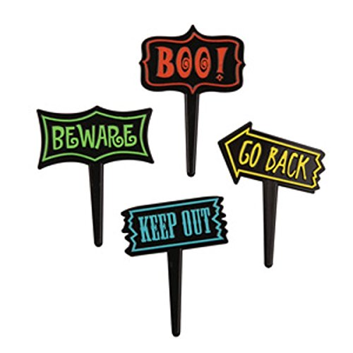 Halloween Sign Picks is one of our favorite fun camping Halloween decorations for your campsite and ideas for decorating your RV