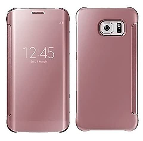 Rejected all traditions For Samsung Galaxy Note 4(Rose Gold) Luxury Gold Plating Ultra Slim Mirror Stylish Smart View Window Mirror PC Hard Case Leather (Note 4 Case Of Rats)