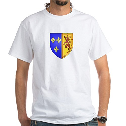CafePress Mary, Queen Of Scots White T-Shirt - 100% Cotton T-Shirt, White Queen Elizabeth Coat Of Arms