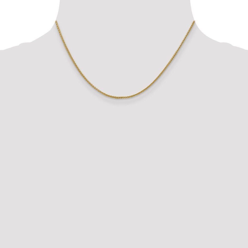 14k Yellow Gold 1.55mm Spiga Chain Necklace 3.06g Wheat