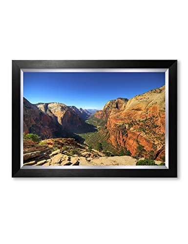 DECORARTS - Angel's Landing at Zion National Park, Utah. Giclee Canvas Prints for Wall Decor. 24x16, Framed Size: 29x21