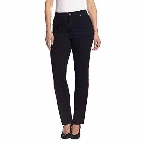 "Gloria Vanderbilt Ladies' Amanda Stretch Denim Tapered Leg Jean Sizes 4-18 Average Length - 31"" Inch Inseam (14, Black) from Gloria Vanderbilt"