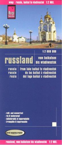 Russia East (Lake Baikal to Vladivostok) 1:2,000,000 Travel Map, waterproof, GPS-compatible, 2012 edition, REISE