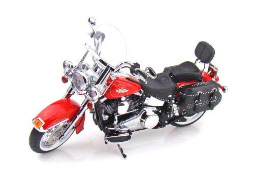 ダイキャスト バイク 2010 ハーレーダビッドソン FLSTC Heritage Softail Classic レッド 1/12