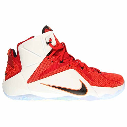 Nike LeBron XII Herren Basketballschuhe Universität Rot / Schwarz-Weiß-Hyper Crimson