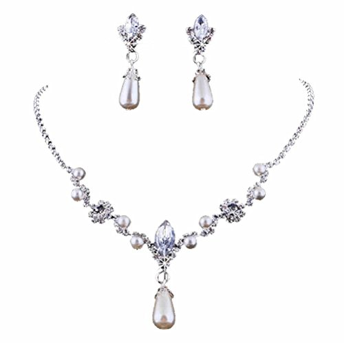 Party Necklace Set (HeroNeo® Hot Prom Wedding Bridal Party Crystal Rhinestone Necklace Earring Jewelry Sets (24#))
