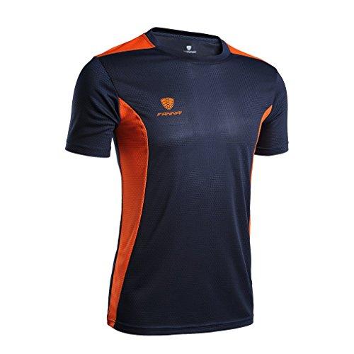 running hombre Camiseta de secado Manga Fitness transpirable para Acmede Running corta r EB6qI44x