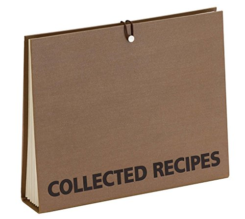 Recipe Holder - Meadowsweet Kitchens Accordion File Recipe Organizer - Brown