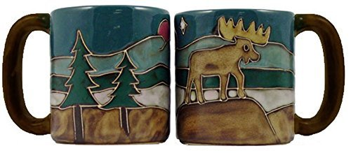 Moose Stoneware - Mara Stoneware Mug - Moose - 16 oz