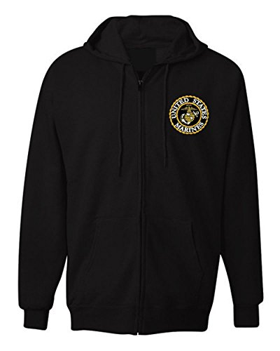 American Law Enforcement Military USMC LOGO Jacket Zipper Hoodie-4XL -