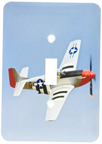 3dRose LLC lsp_97103_1 P-51D Mustang Fighter Wwii War Planem Us50 Bfr0014m Bernard Friel Single Toggle (Mustang Ww2 Fighter)