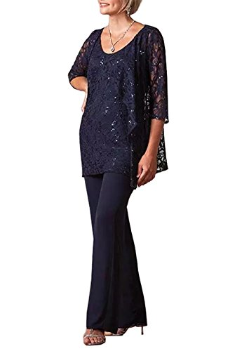 Fitty Lell Women S Lace Pants Suits For Wedding Mother Of The Bride
