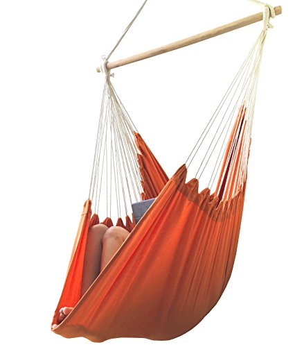 AOW Hammock Chair by Tropical Color Extra Long Hanging Swing Seat - Perfect for Indoor Decoration Swing (Vitality Orange) by AOW