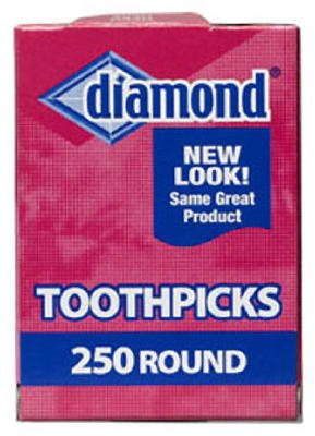 Diamond Round Toothpicks, Pack of 250