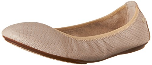 Hush Puppies Women's Chaste Ballet Slip-On Loafer, Off White Embossed Leather, 6.5 M -