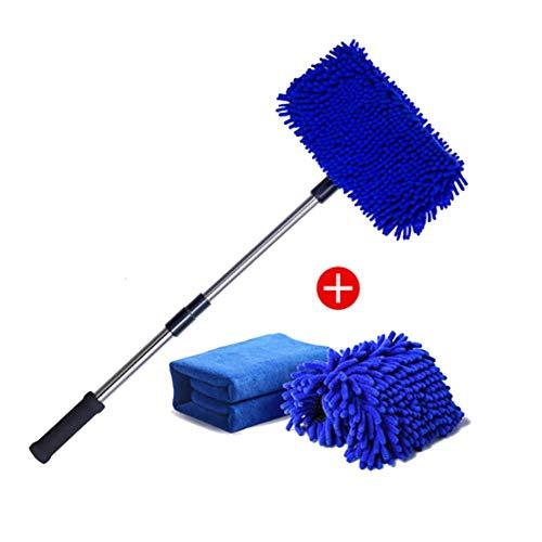 RUIX 洗車ブラシ ロングハンドル 格納式/コットン/クリーニングモップ/ソフトヘア/洗車用品