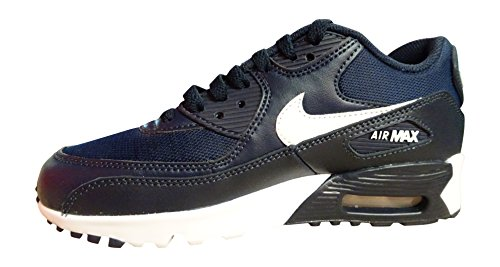 NIKE Air Max 90 Mesh (GS) Trainers 833418 Sneakers Shoes (4.5 M US Big Kid, Obsidian White Black 403)