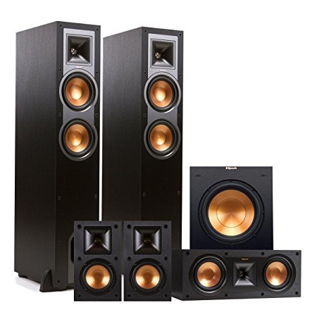 Klipsch R-26F 5.1 Reference Floorstanding Speaker Package with 10'' Powered Subwoofer (Black) by Klipsch