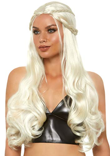Leg Avenue Women's Fashion Synthetic Costume Cosplay Braided Dragon Queen Wig, Blond, One Size]()