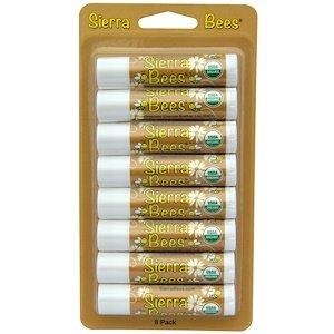 15 Oz Lip Balm - Sierra Bees Organic Lip Balms Cocoa Butter 8 Pack 15 oz 4 25 g Each