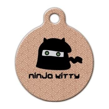 Ninja Kitty - Custom Pet ID Tag for Dogs and Cats - Dog Tag Art
