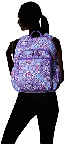 Women's Campus Tech Backpack, Signature Cotton, Lilac Tapestry by Vera Bradley (Image #3)