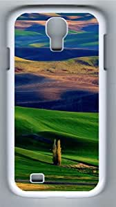 Amazing Colorful Hills PC Case Cover for Samsung Galaxy S4 and Samsung Galaxy I9500 White