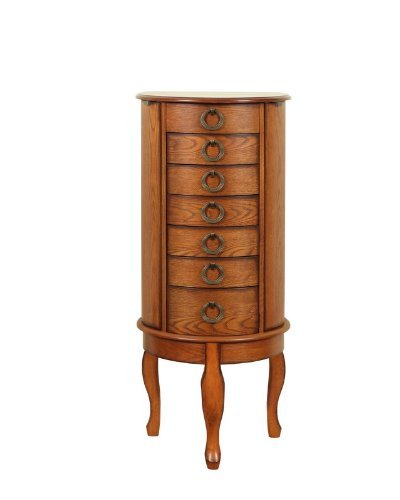 - Powell Burnished Oak Jewelry Armoire