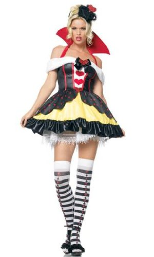 Leg Ave Women's Queen of Hearts Costume, Red/Black/Yellow, Large