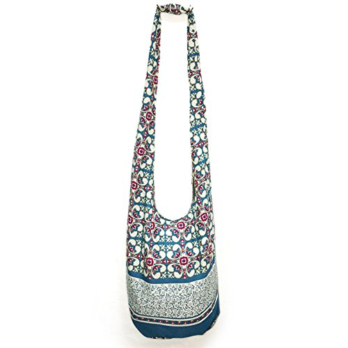 KARRESLY Bohemian Cotton Hippie Crossbody Bag Hobo Sling Bag Handmade Messenger Shoulder Bags(10-1166)
