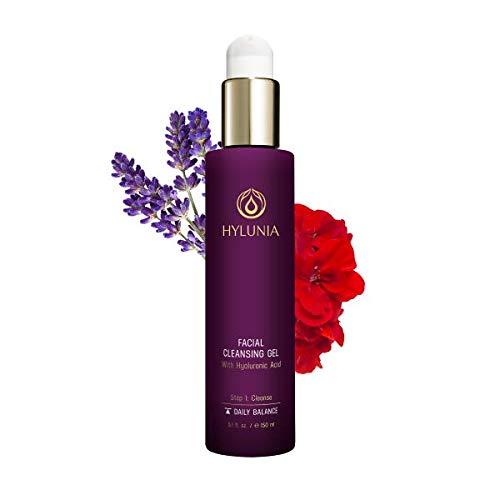 Hylunia Facial Cleansing Gel – 5.1 fl oz – Lavender, Hyaluronic Acid Serum – Acne – Rapid Skin Repair
