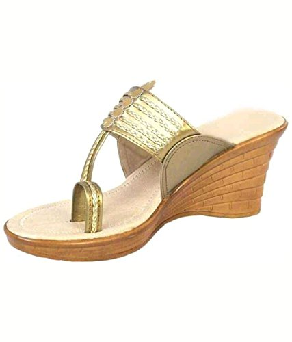 9dac9abe5b cobblerone Women's Synthetic Kolhapuri Wedges: Buy Online at Low ...