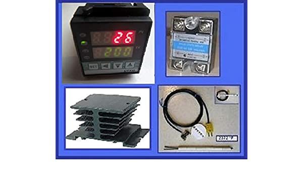 Thermomart Plug /& Play PID Ramp Soak Time Cycle Kiln Oven Temperature Controller 50 Segment Pottery Glass Annealing